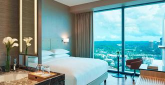 新加坡诺维娜万怡酒店 - 新加坡 - 睡房