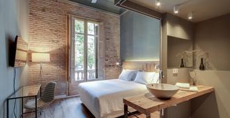 普林西帕尔住宿加早餐旅馆 - 巴塞罗那 - 睡房