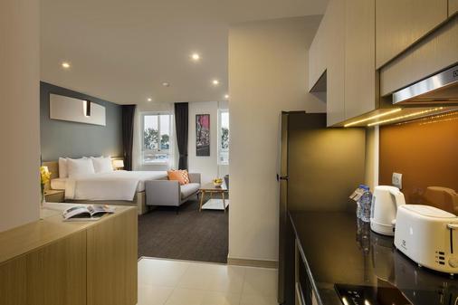 胡志明市奥克伍德公寓式酒店 - 胡志明市 - 睡房