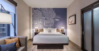 芝加哥卢普剧场区坎布里亚酒店 - 芝加哥 - 睡房