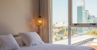 市民套房酒店 - 蒙得维的亚 - 睡房