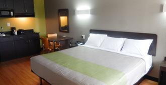 德克萨斯休斯顿 - 洲际机场南 6 号开放式客房酒店 - 休斯顿 - 睡房
