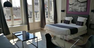 城市阁楼公寓酒店 - 第戎 - 睡房