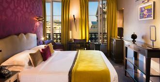 万神殿莱斯达姆斯酒店 - 巴黎 - 睡房