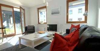 伊里斯皇家公寓酒店 - 伊里斯哥白尼 - 格但斯克 - 客厅