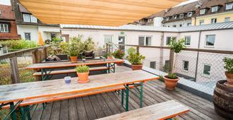 芭比菲舍尔了旅社 - 维尔茨堡 - 阳台