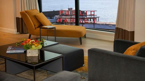 市场旅馆 - 西雅图 - 客厅
