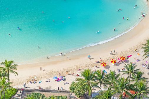 雅诗顿威基基海滩大厦全套房式度假村 - 檀香山 - 海滩