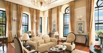 伊斯坦布尔博斯普鲁斯海峡四季酒店 - 伊斯坦布尔 - 客厅