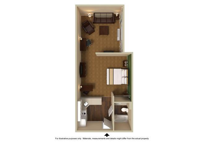杰克逊维尔-勒诺大道东美国长住酒店 - 杰克逊维尔 - Floorplan