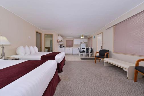 维农加拿大最佳价值套房酒店 - 弗农 - 睡房