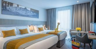 玛尔德文帕内尔广场酒店 - 都柏林 - 睡房
