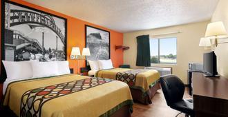 韦科大学区速8酒店 - 韦科 - 睡房