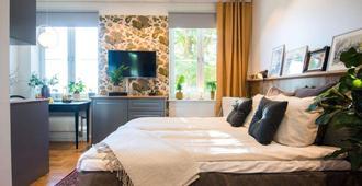 波特尔沃塔弗里农酒店 - 斯德哥尔摩 - 睡房