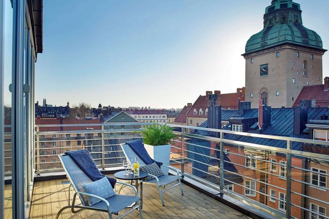 凯隆酒店-阿姆瑞特 - 斯德哥尔摩 - 阳台