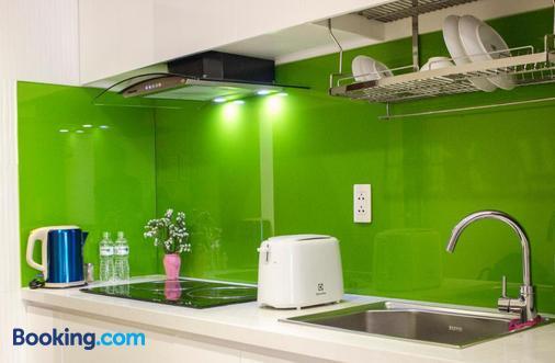 灿烂阳光服务式公寓 - 胡志明市 - 厨房