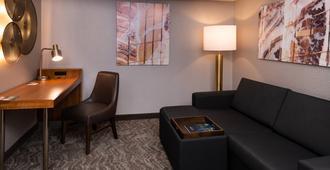 万豪匹兹堡北岸春季山丘套房酒店 - 匹兹堡 - 客厅