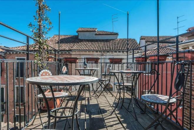 威尼斯卡圣托瓦索酒店 - 威尼斯 - 阳台
