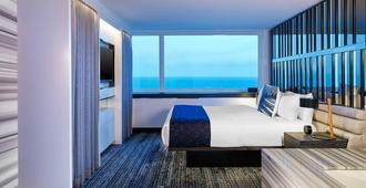 芝加哥湖滨W酒店 - 芝加哥 - 睡房
