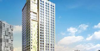 新村爱威尔8服务公寓酒店 - 首尔 - 建筑