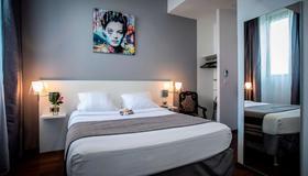 雷庄园酒店 - 拉罗谢尔 - 睡房