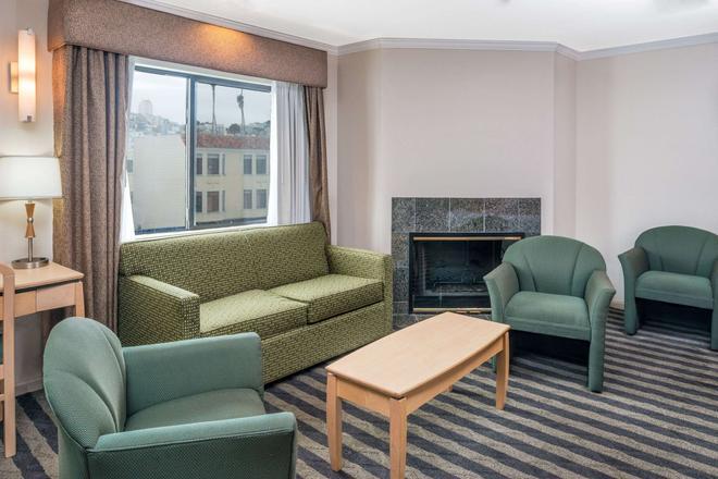 旧金山海港区豪生酒店 - 旧金山 - 客厅