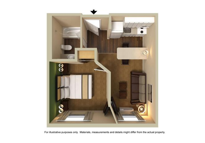 罗利东北美国长住酒店 - 罗利 - Floorplan