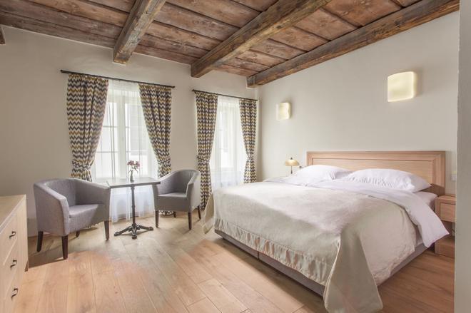 白色百合酒店 - 布拉格 - 睡房