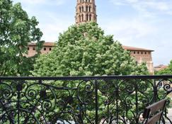 圣塞尔尼酒店 - 图卢兹 - 阳台