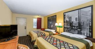 速8印第安纳波利斯南港汽车旅馆 - 印第安纳波利斯 - 睡房