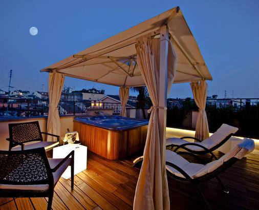 罗马第一豪华艺术酒店 - 罗马 - 阳台