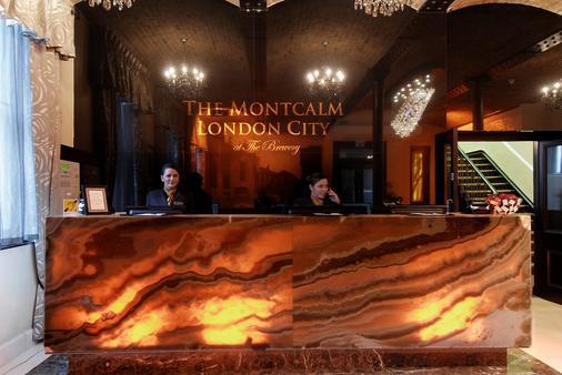 伦敦市蒙卡尔姆啤酒厂酒店 - 伦敦 - 柜台