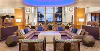 劳德代尔堡海港海滩万豪度假酒店及水疗中心 - 劳德代尔堡 - 休息厅