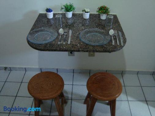 柏萨德普拉亚公寓 - 纳塔尔 - 餐厅