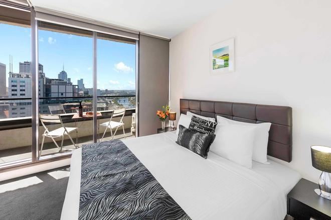 弗林德斯灵气公寓 - 墨尔本 - 睡房