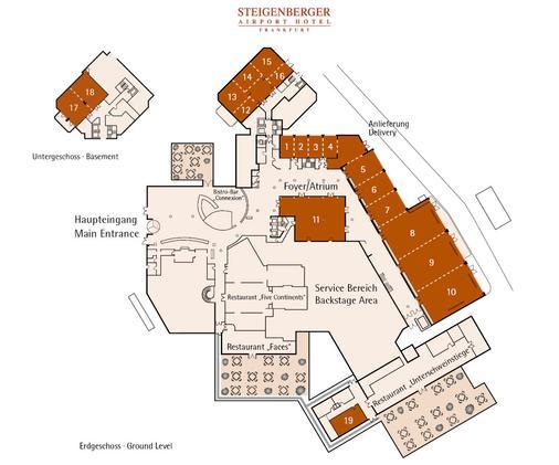 施泰根贝格尔机场酒店 - 法兰克福 - Floorplan