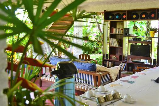 棕榈木屋村旅馆 - Morro de Sao Paulo - 露台