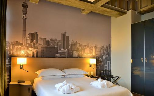 岩礁酒店 - 约翰内斯堡 - 睡房