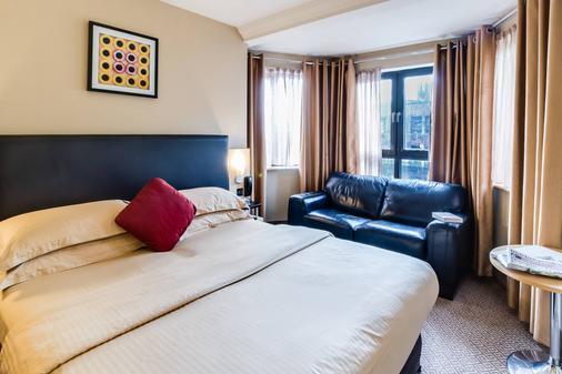 学院广场酒店 - 都柏林 - 睡房