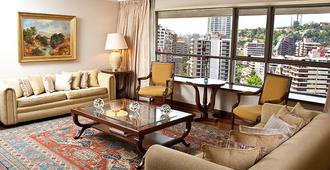 埃布罗河森林广场酒店 - 圣地亚哥 - 客厅