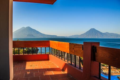 波塔湖酒店 - Panajachel - 阳台
