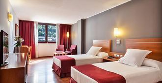 阿克塔艺术酒店 - 安道尔城 - 睡房