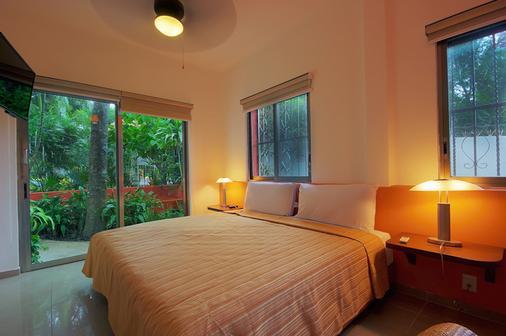 玛雅海滨度假套房酒店 - 卡曼海灘 - 睡房