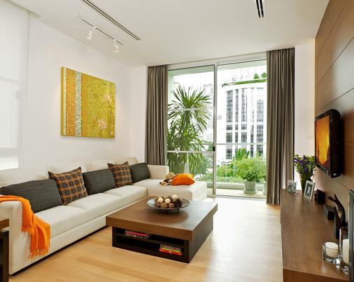 莎玛素坤逸服务式公寓酒店 - 曼谷 - 客厅