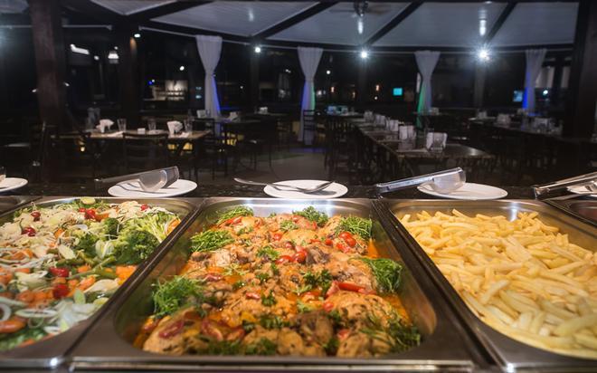 伊利亚布兰卡酒店 - 布希奥斯 - 自助餐