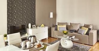 布达佩斯七季公寓酒店 - 布达佩斯 - 客厅