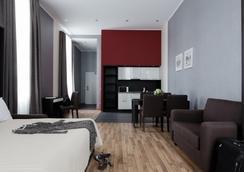 佛提蔻公寓式酒店 - 圣彼德堡 - 睡房