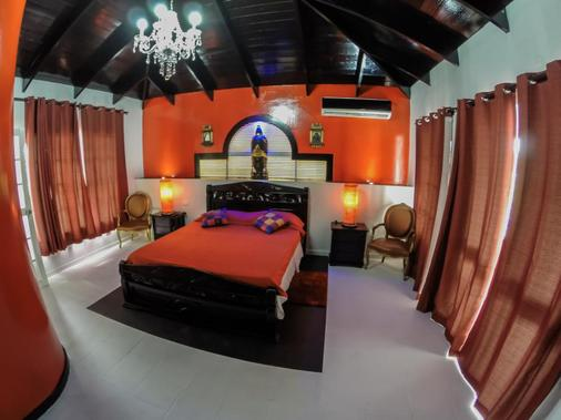 Hotel Buddha Villa - San Andrés - 睡房