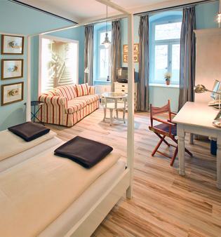 阿克赛尔豪斯及蓝色家园酒店 - 柏林 - 客厅