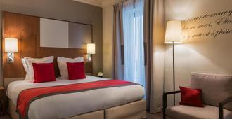图维尔艾菲尔酒店 - 巴黎 - 睡房